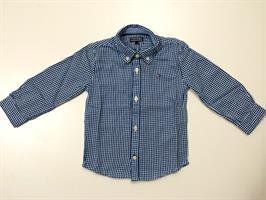 חולצה מכופתרת משבצות (פיפיטה) בצבע כחול לבן של המותג טומי הילפיגר. מס' דגם: 698