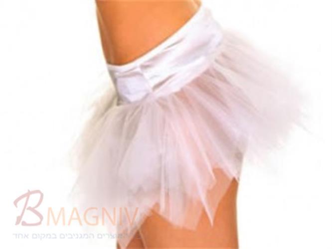 חצאית טוטו לבנה
