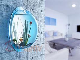 אקווריום בועה לתליה על הקיר  אקווריום פלסטיק לתליה על הקיר