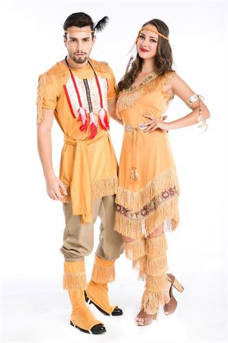 תחפושת זוגית אינדיאני ואינדיאנית