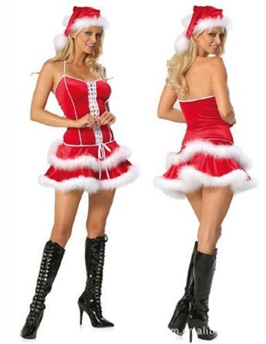 תחפושת אשת סנטה נוצות