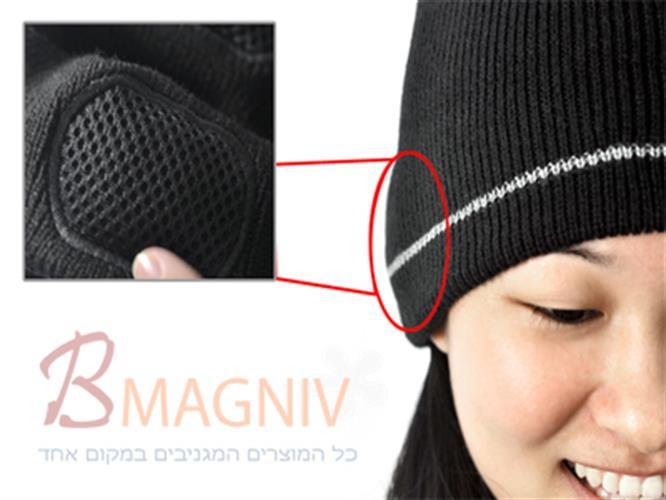 כובע גרב עם אוזניות מובנות