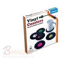 סט תחתיות רטרו בעיצוב תקליטים וניל מחפשים לתת טאץ עיצובי וצבעוני לשולחן שלכם?