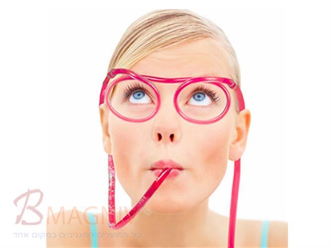 משקפי קש - קש בצורת משקפיים