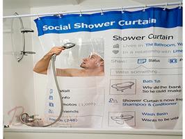 רוצים וילון אמבטיה באמת מגניב לחדר הרחצה שלכם ? חדש בבי מגניב וילון אמבטיה בעיצוב של Facebook