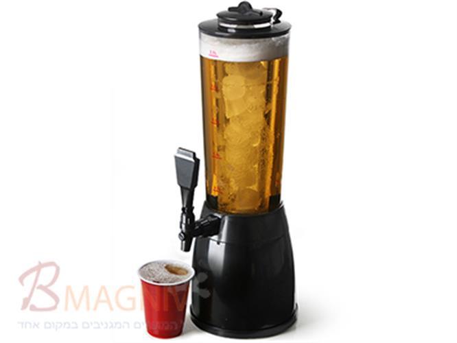 מתקן למזיגת משקה  2.5 ליטר עם מיכל קירור ותאורה